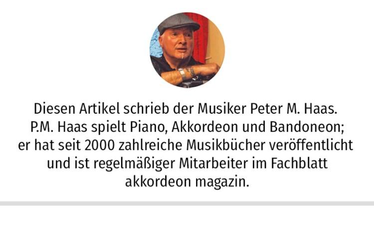 Diesen Artikel schrieb der Musiker Peter M. Haas