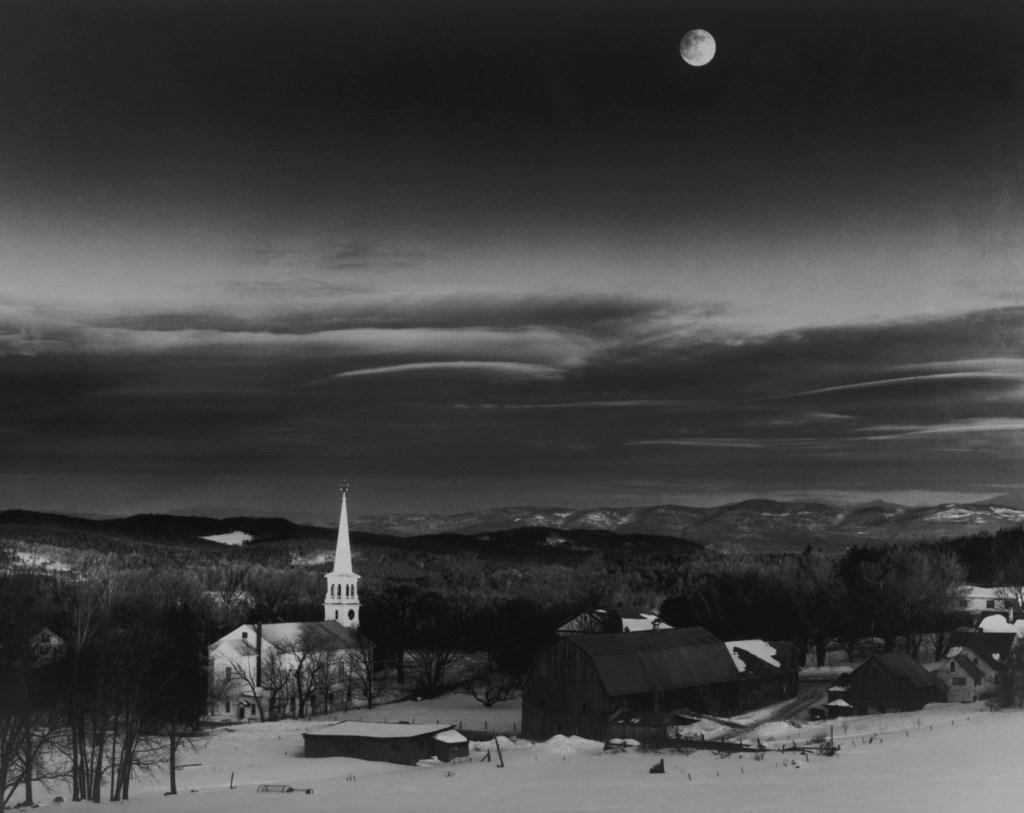 The moon over Peacham Vermont