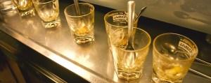Empty ponce glasses at Bar Civili