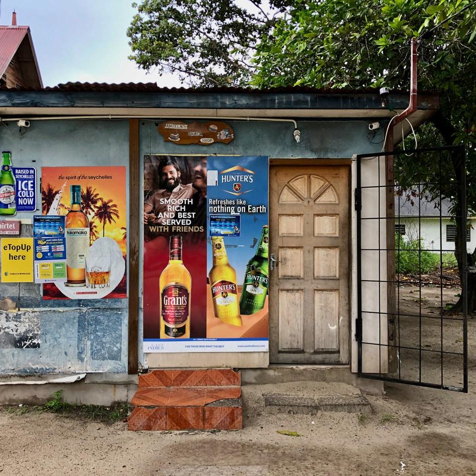 Shawn's Bottle Shop on La Digue in the Seychelles