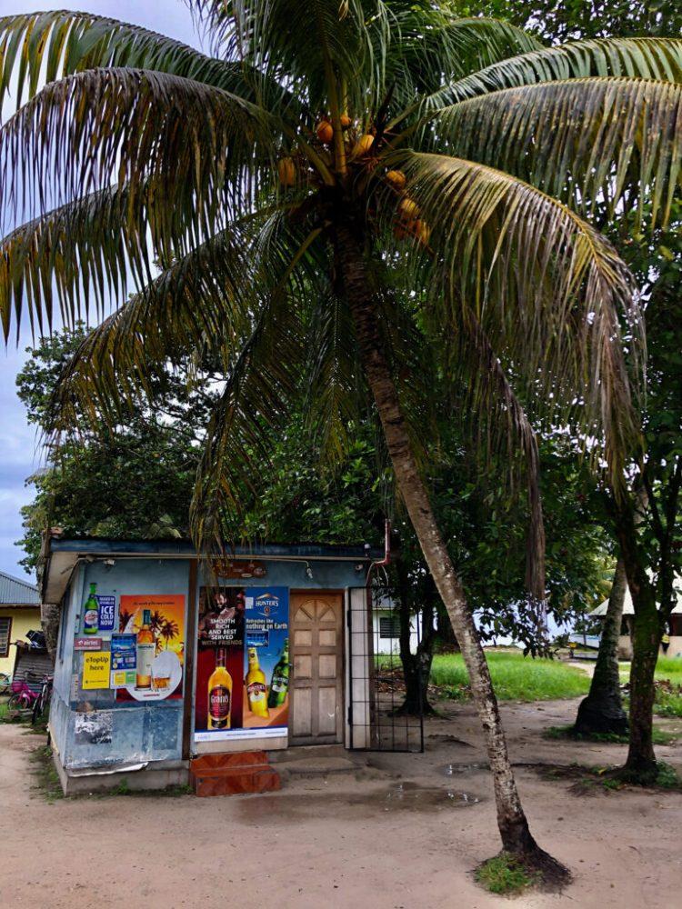 Local bottle shop on La Digue in the Seychelles