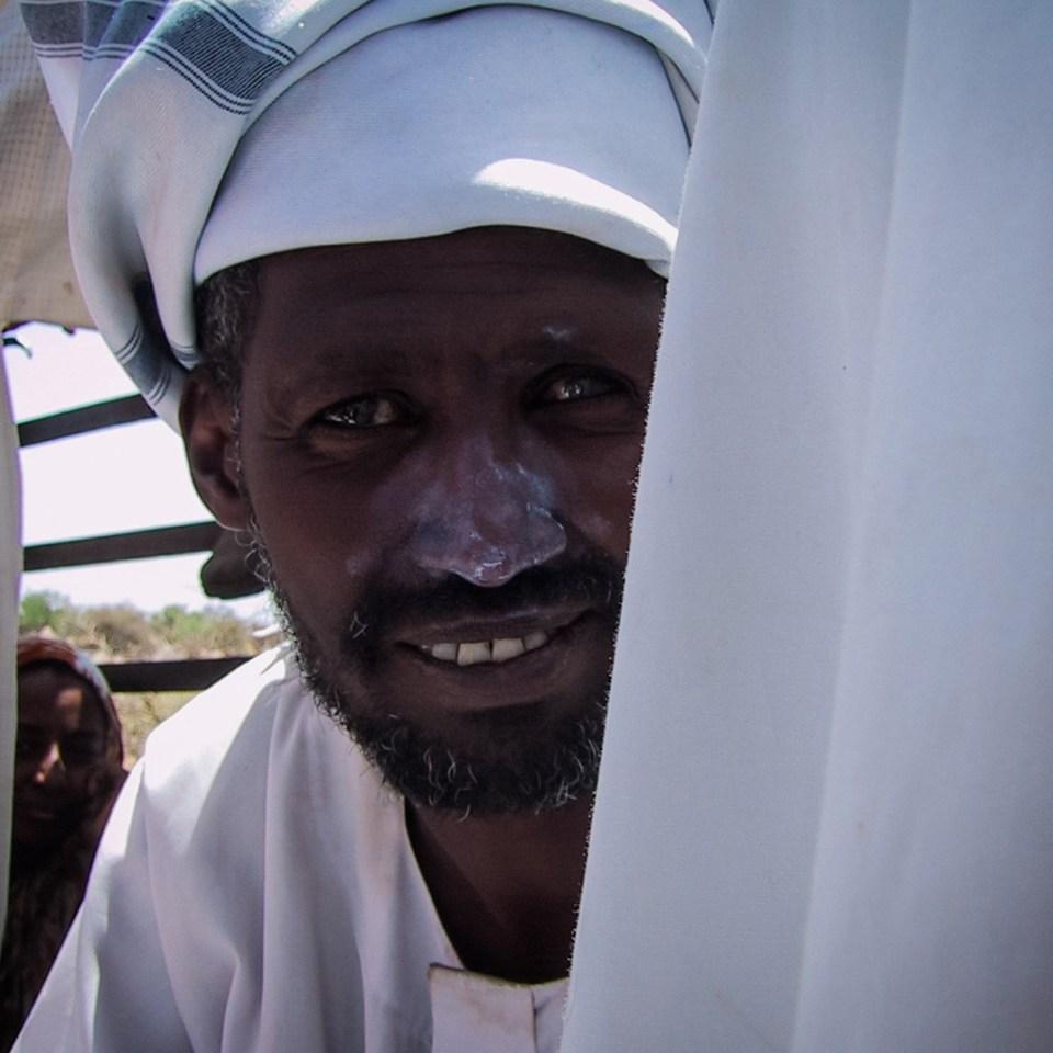 Sunblock peeking in Sudan (Peter Moore)
