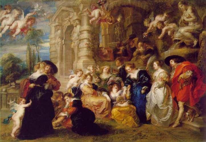 Pedro Pablo Rubens, El Jardín del amor, 1633-1634, Museo Nacional del Prado.