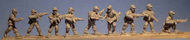 militia with caps