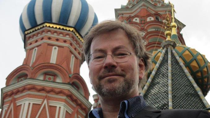 Vor der Basilikus-Kathedrale in Moskau