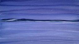 Dark Blues Landscape start of painting