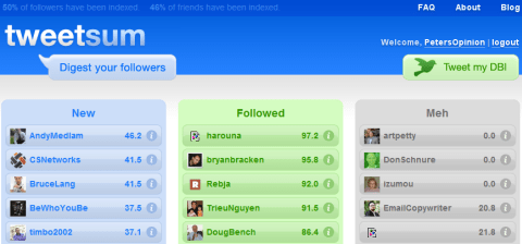 Tweetsum - Digest your Twitter followers