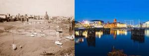Cardiff Bay 1980's - Cardiff Bay today