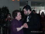 "Groom/Mother dance: ""First Lady in My Life"" by Paul Todd."