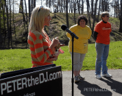 Kaylea Nixon from NewsChannel 9 also greeted the walkers.