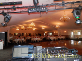 DJ view of the banquet hall before guests arrived