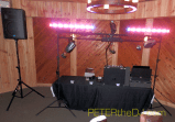 DJ Setup on the dance floor, downstairs at Dibbles Inn.