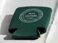 Personalized koozies were given to all the guests