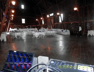 The DJ's view of the floor before guests arrive.