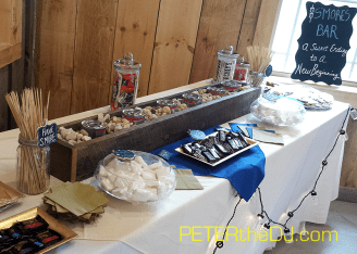 A S'mores Station provided a tasty treat in addition to the wedding cake!