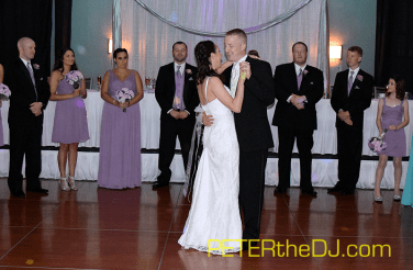 Emily and Adam's first dance