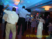 Can't remember the song, but it involved dancing or hopping, and one guest got plenty of air every time!