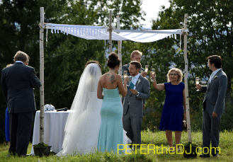 Laura and Daniel's wedding ceremony.
