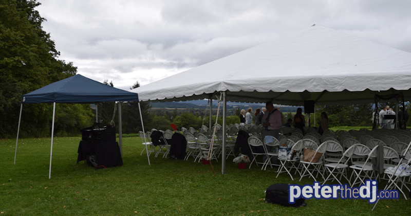 DJ Peter Naughton plays a wedding reception at Stone Quarry Hill Art Park in Cazenovia, NY