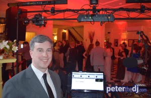 DJ Peter Naughton at Caitlin and Martin's wedding reception, October 2016.