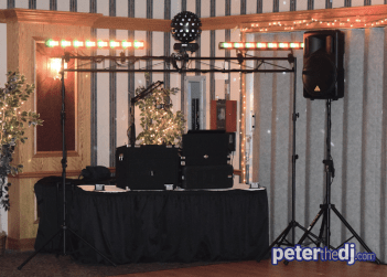 DJ Peter Naughton provides music for Lindsay and Ryan's wedding reception at The Rusty Rail in Canastota, NY