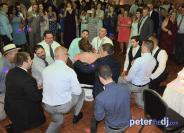 Serenading the Bride at Stephanie & Larry's wedding reception at Hart's Hill Inn, Whitesboro, NY - August 2017