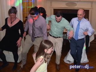 DJ photos from Megan and Tat's wedding reception at Lincklaen House, Cazenovia, NY, May 2018.