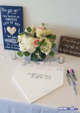 Baseball-themed wedding guestbook: Chris and Ashley's wedding at Lake Shore Yacht & Country Club, Cicero, NY