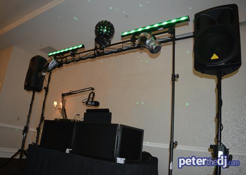 Wedding DJ Setup: Natalie and Matt's wedding at Genesee Grande, Syracuse, NY
