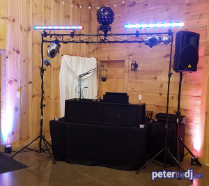 Wedding DJ Peter Naughton shares some photos from Tiffany and Matt's wedding at Wolf Oak Acres in Oneida, NY. August 2018.