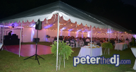 Uplighting under a party tent
