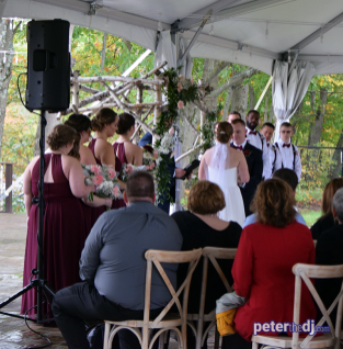 Emily and Nick's wedding at Tailwater Lodge, Altmar, NY. Photo by DJ Peter Naughton. October 2018