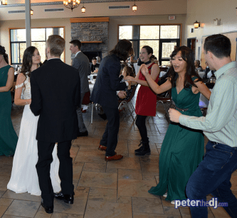 Bethany and Brian's wedding at Skyline Lodge, Highland Forest, Fabius, NY. November 2018. Photo by DJ Peter Naughton peterthedj.com