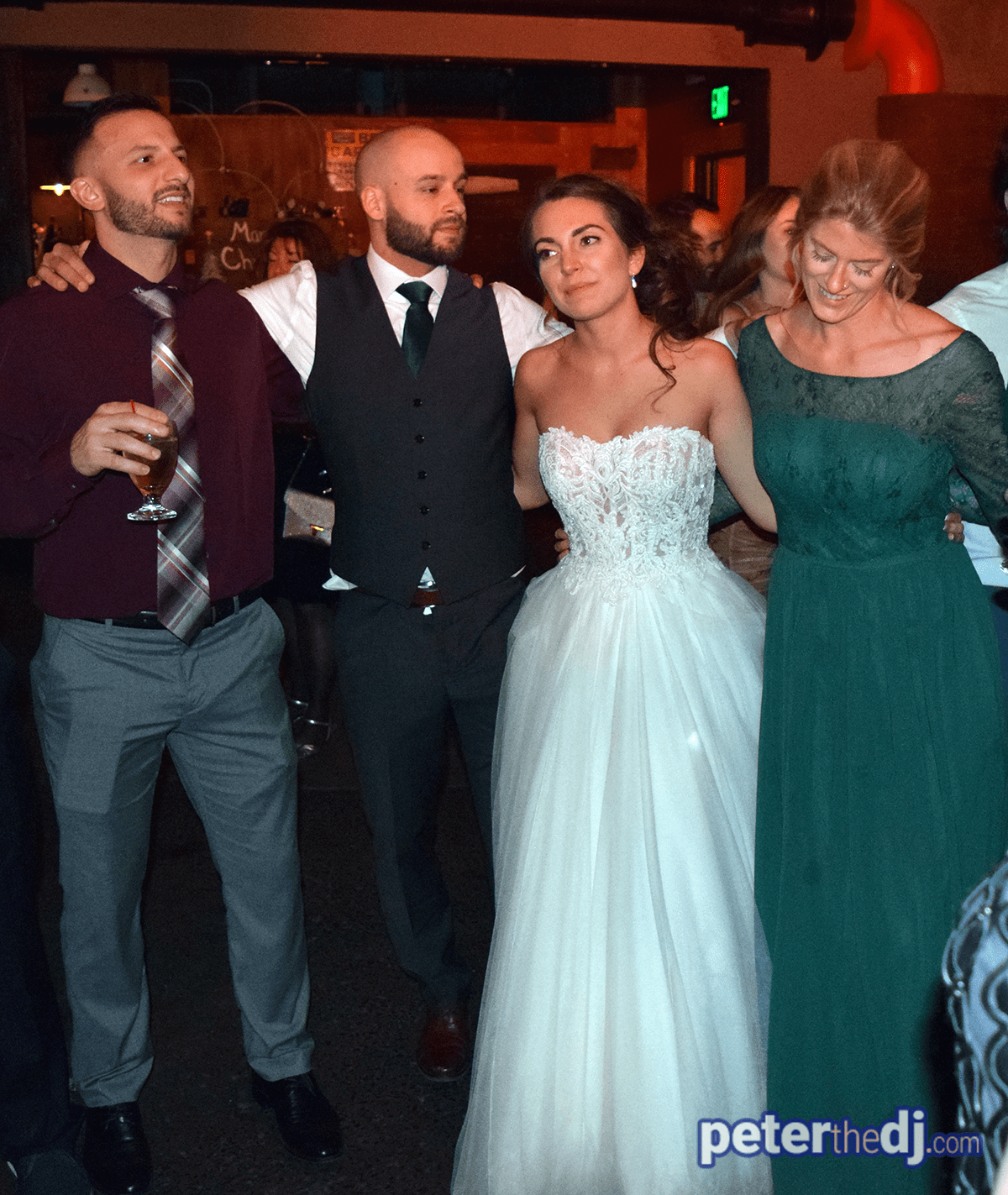 Molly & Cic's wedding at The Cannery, Vernon, NY - photo by Peter Naughton peterthedj.com - December 2019