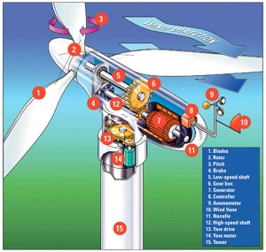 Wind Energy Parts of An Electric generating Windmill