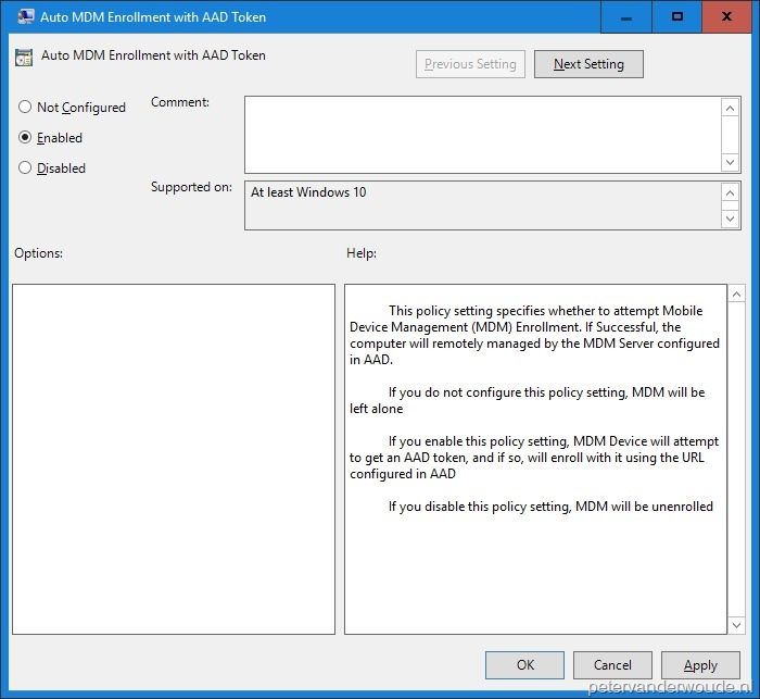 Auto-enroll Windows 10 devices using Group Policy – More than just