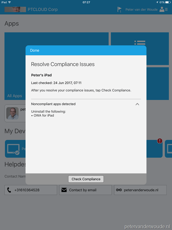Conditional access and apps that cannot be installed on the device