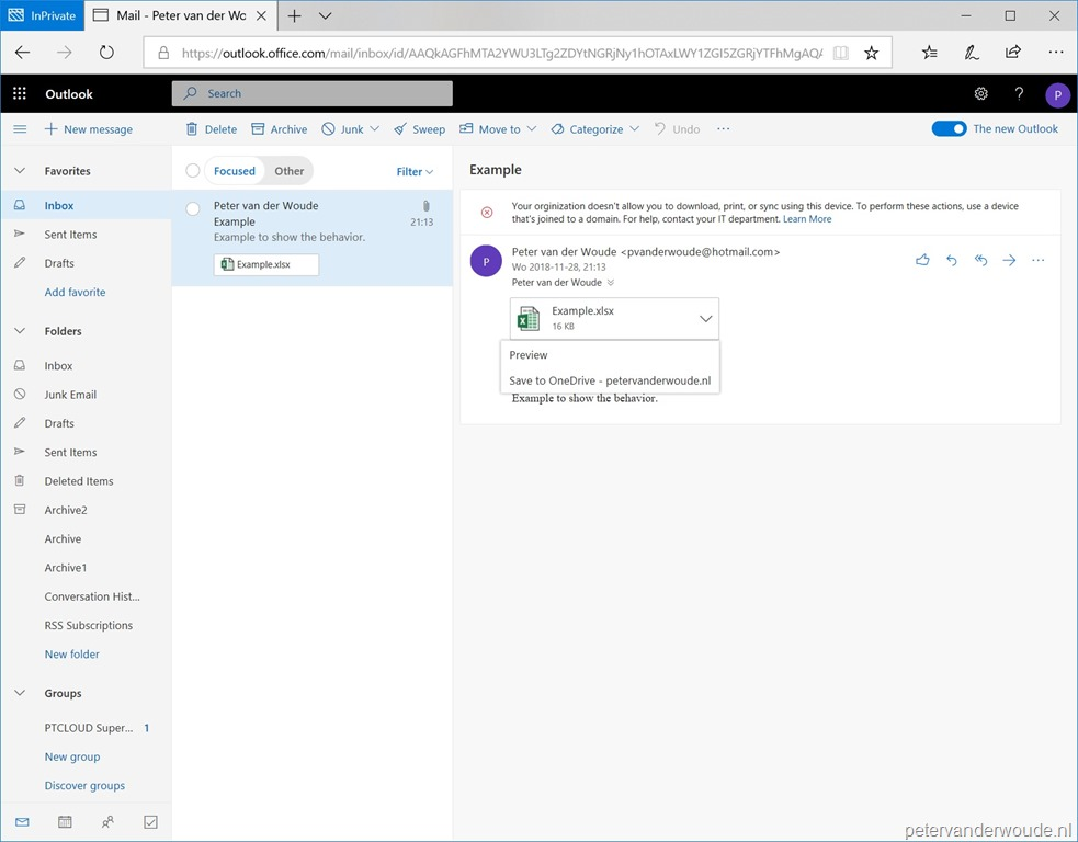 Conditional access and Outlook on the web for Exchange