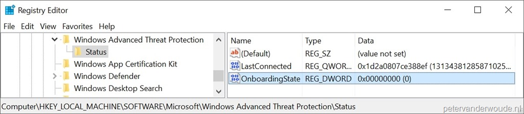 Offboard Windows 10 devices of Windows Defender Advanced