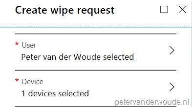 Remotely selective wipe WIP without enrollment devices
