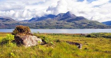 Beinn Damh across Loch Torridon landscape
