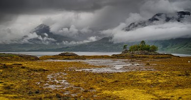 Beinn Alligin viewed across Loch Torridon