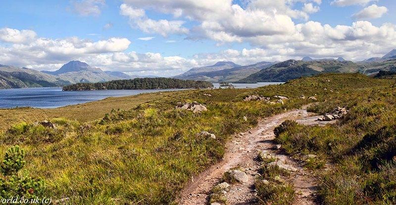 Slioch, Loch Maree & Beinn Eighe panorama