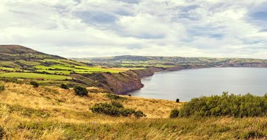 Panorama II looking towards Robin Hood's Bay from Ravenscar