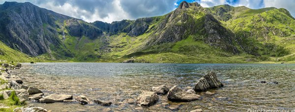 HDR panorama view of Llyn Idwal