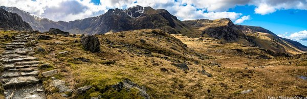 Devil's Kitchen and Y Garn panorama