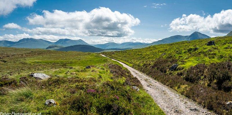 Looking towards Beinn Achaladair & Meall Buidhe