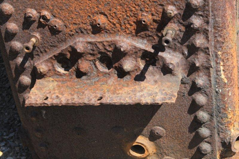 2015-0412:  Corroded brackets from the boiler