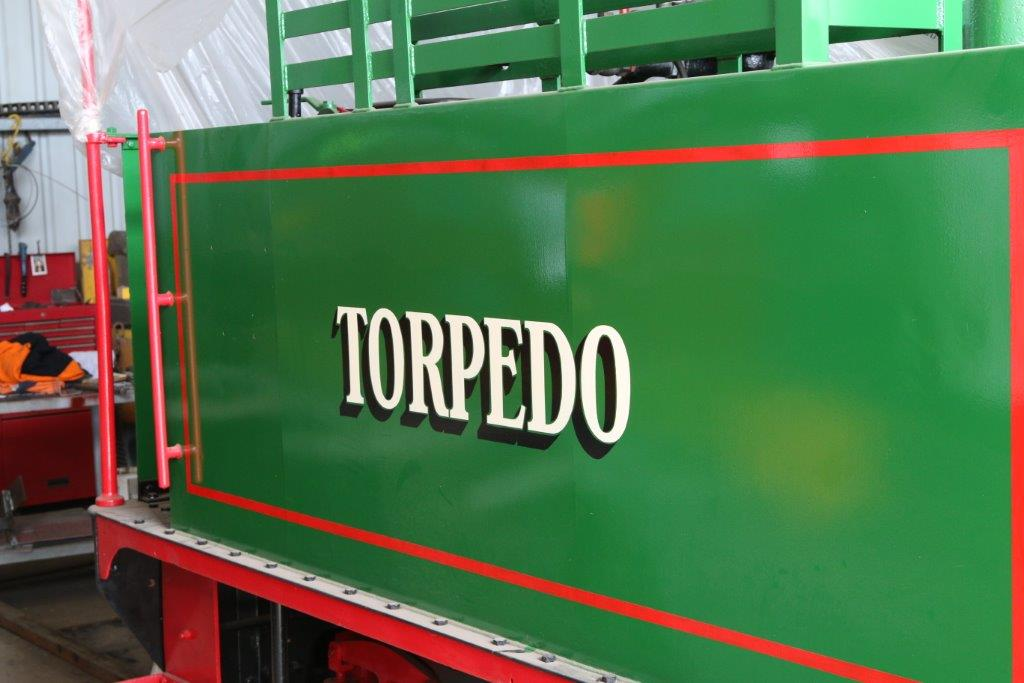 "2016-1733: Side tank, showing the restored ""Torpedo"" name"