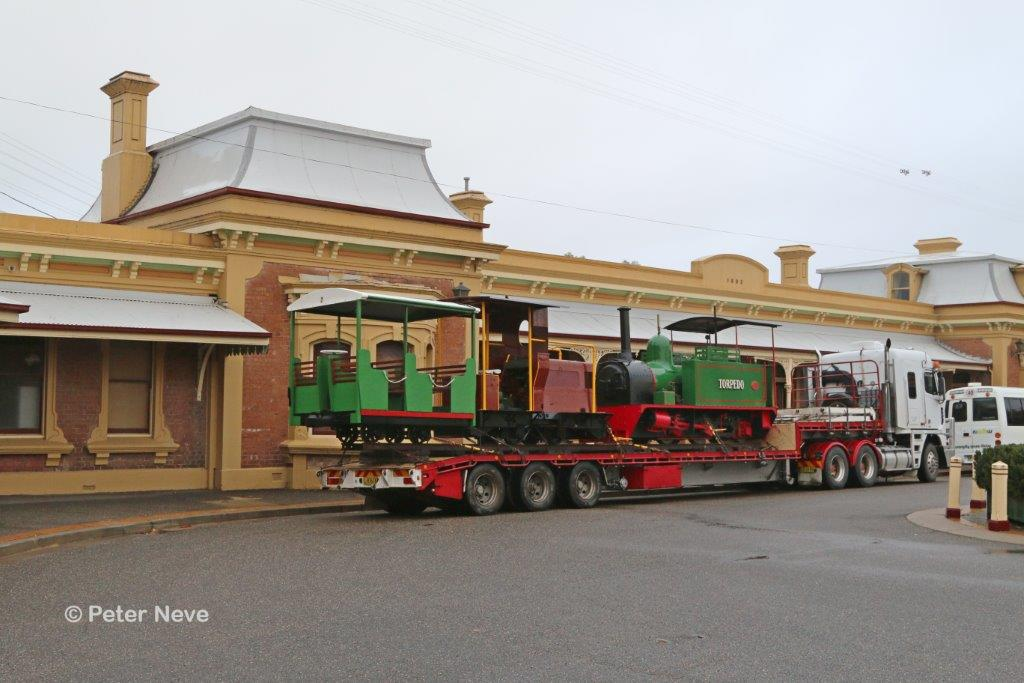 2016-3050A: Arrangements had been made for a morning photo-shoot in the Junee station forecourt
